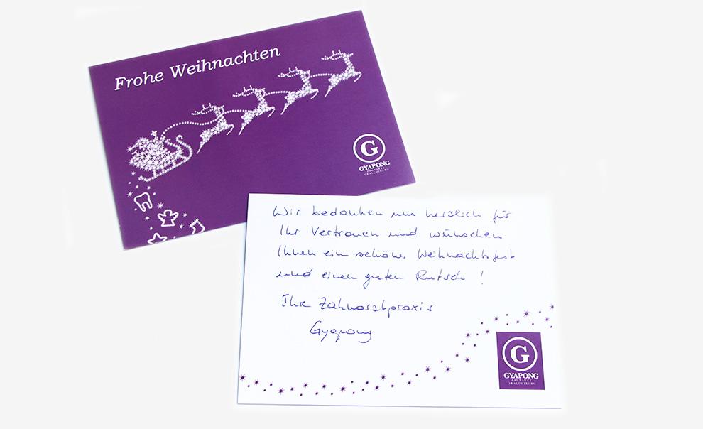 1_weihnachtskarte_gyapong_zahnarztpraxis_Detail_freistil_fruehwacht_mediengestaltung_wiesbaden